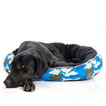 犬猫用 リバーシブルベッド カモ ブルー